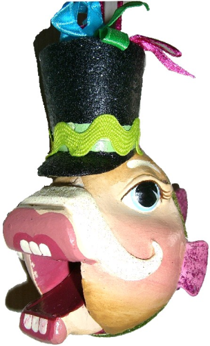 Nutcracker Kissing Fish grün