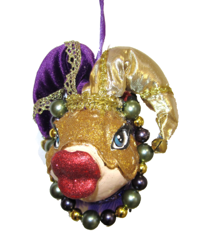 Masquerade Kiss Fish lila/gold